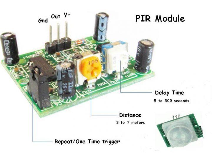 usare i PIR con Arduino-disosizione PIN